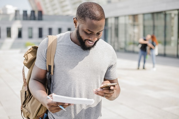 Young Man Mobile Web